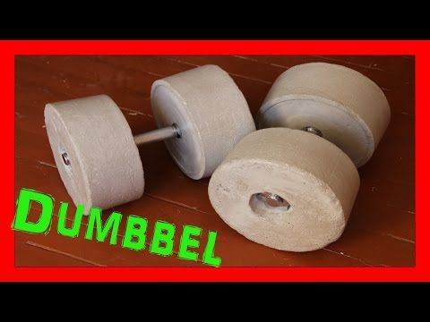 How To Make Homemade Weights ( DIY Dumbbell ) - YouTube