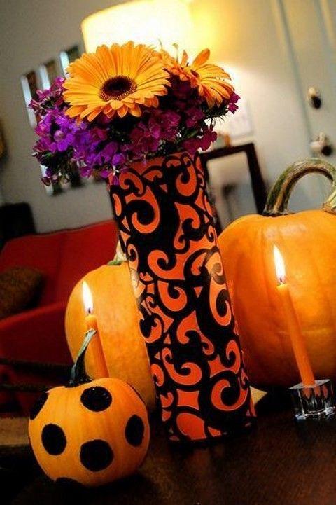45 stunning halloween wedding centerpieces happyweddcom - Halloween Centerpieces Wedding
