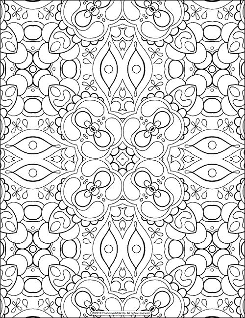 Free Adult Coloring Page, Abstract Pattern