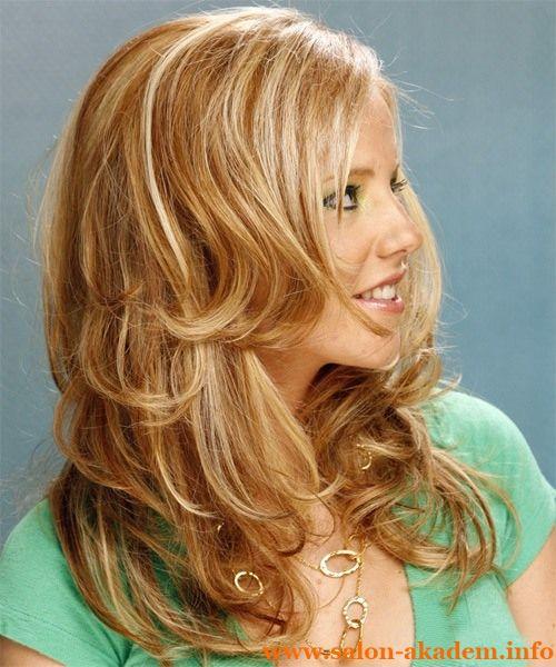 """Каскад на длинные волосы волнистые #Фото  Вернуться в раздел """"Прическа каскад на длинные волосы""""    http://www.salon-akadem.info/kaskad-na-dlinnye-volosy-volnistye.php"""