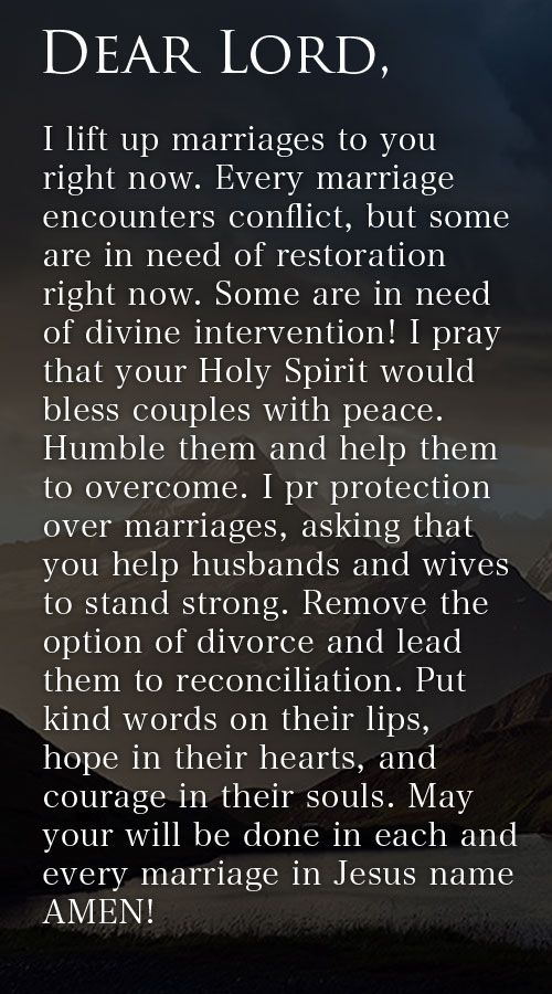 Prayer Of The Day – Restoration In Marriage --- Dear Lord, I lift up marriages to you right now. Every marriage encounters conflict, but some are in need of restoration right now. Some are in need of divine intervention! I pray that your Holy Spirit would bless couples with peace. Humble them and… Read More Here http://unveiledwife.com/prayer-of-the-day-restoration-in-marriage/ - Marriage, Love