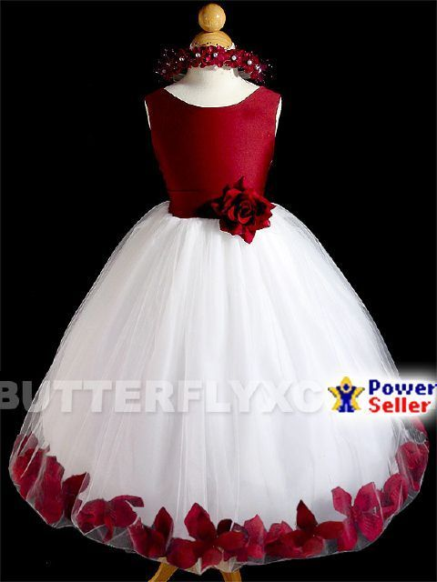 Free Hair Wreath + Flower Girl Pageant Party Dress #A1555 $40
