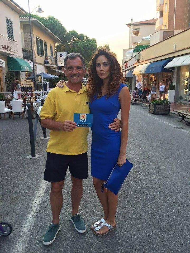 Fabio Ferrari ex terza C con Enrica Guidi