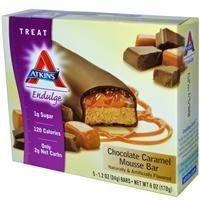 Atkins, Endulge, Chocolate Caramel Mousse Bar, 5 Bars, 1.2 oz (34 g) Per Bar - iHerb.com