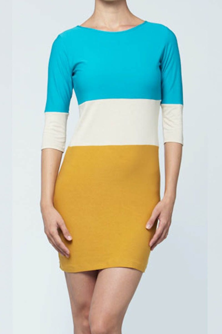 Colour Block Sheath Dress from Quinn Apparel - Cruise Collection and more on Brandsfever