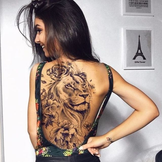50 Eye Catching Lion Tattoos That Ll Make You Want To Get Inked Rose Tattoos For Women Back Tattoo Women Tattoos