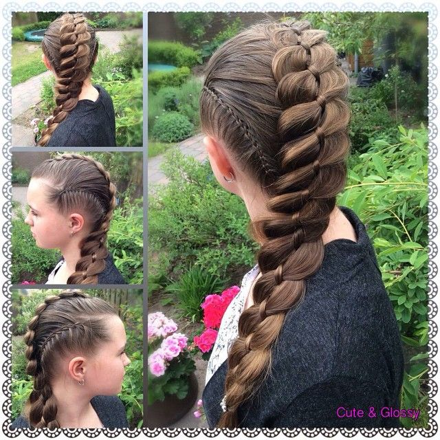 """I'm so happy and thankfull for all the birthdaywishes and beautiful creations I received from you, guys! You all made my birthday a wonderful day.  this is the birthdaypresent I got from my lovely niece: being my model for a creation I had already on my mind for a few weeks. Scissorswaterfall braids besides in combination with a big pancaked 4 strand braid. Love the way it came out. "" Photo taken by @cute_and_glossy on Instagram, pinned via the InstaPin iOS App! http://www.instapinapp.com…"