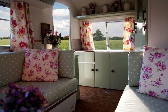 Lola the 1960's vintage caravan