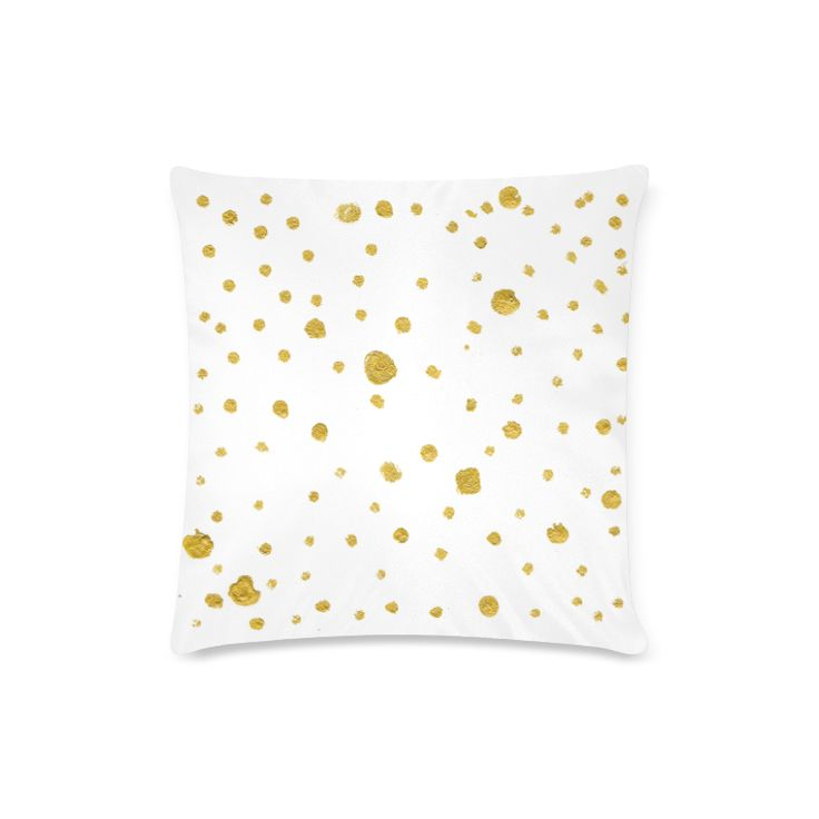 """Golden designers pillow : Bedroom edition. Gold and white 2016 Art collection Custom Zippered Pillow Case 16""""x16""""(Twin Sides)."""