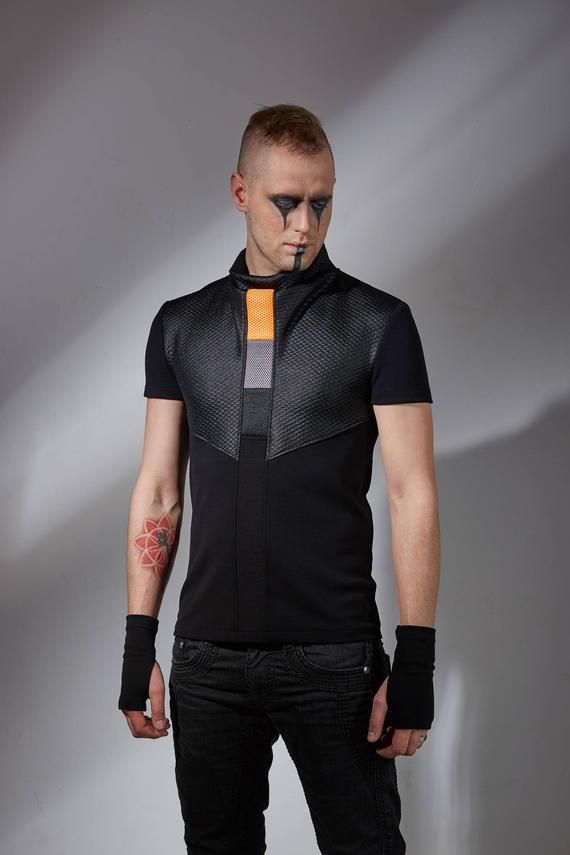 Geek shirt dystopian clothing cyberpunk Futuristic cyber