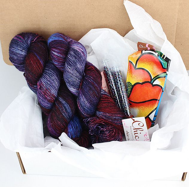 "151 Likes, 4 Comments - ZenKnitBox.com (@zenknitbox) on Instagram: ""Our latest shawl box included beads!  You can join our It's A Wrap! box at anytime and our next…"""