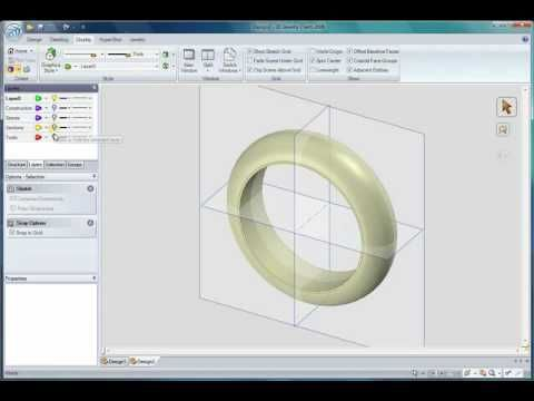 3D Jewelry Claim ring creation