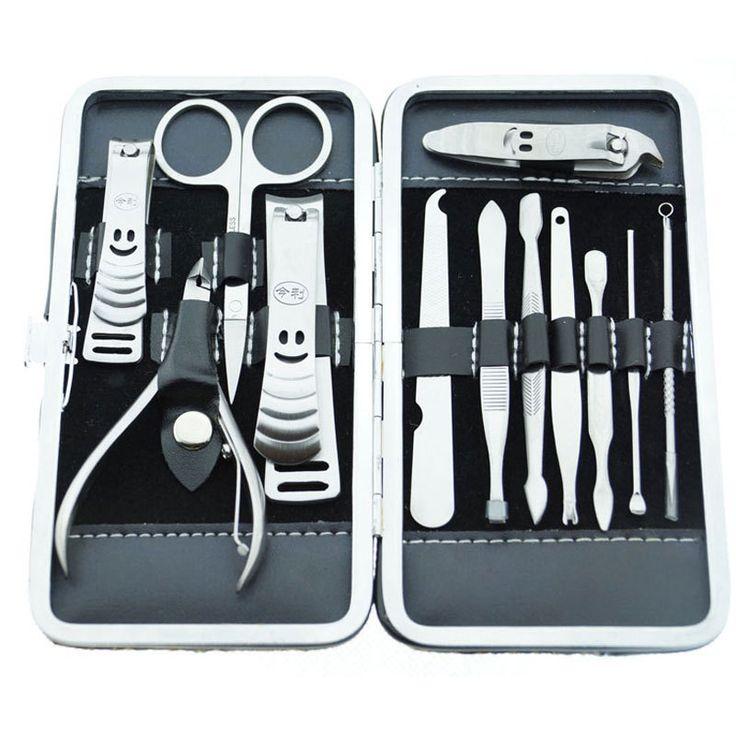 Manicure Set Nail Care Tools  Allround Nail File Scissors tool Nail Set Manicure Kit 12Pcs/Set