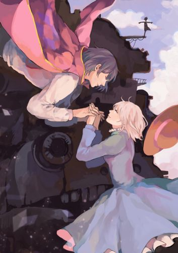 Howl and Sophie - howls-moving-castle fã Art