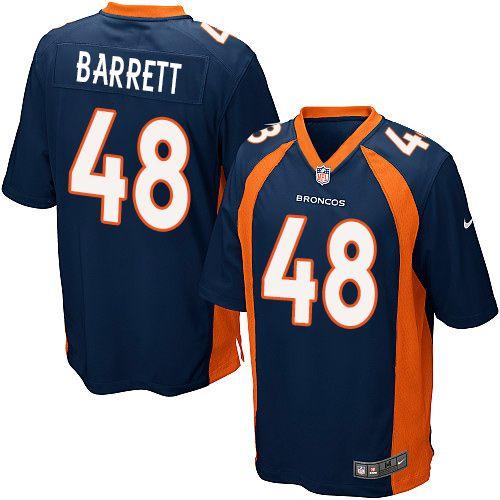 $24.99 Men's Nike Denver Broncos #48 Shaquil Barrett Game Navy Blue Alternate NFL Jersey