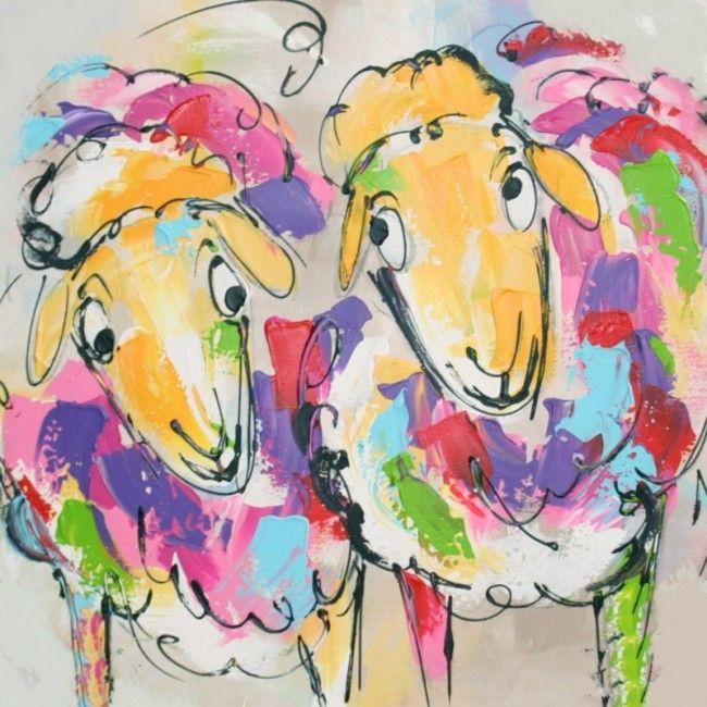 Linker bonte schapen