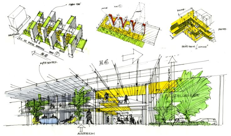 Architectural Sketch | sketchbook - Explore, Collect and Source architecture