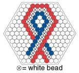 Small Hexagon Perler Bead Patterns | Follow the pattern to make your pin. White beads have an X, The plain ...