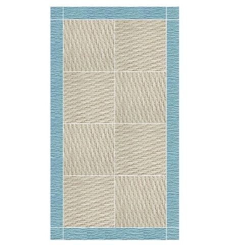 "Aqua ""Better than Seagrass"" Carpet Square"