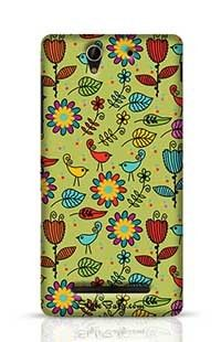 Floral Pattern Sony Xperia C3 New Phone Case