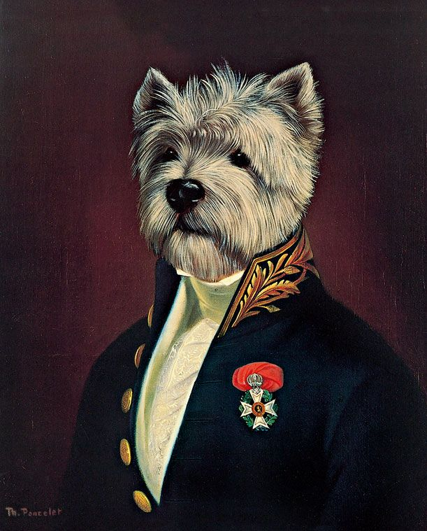 Thierry Poncelet - The Officer's Mess. (Anthropomorphic dog art)