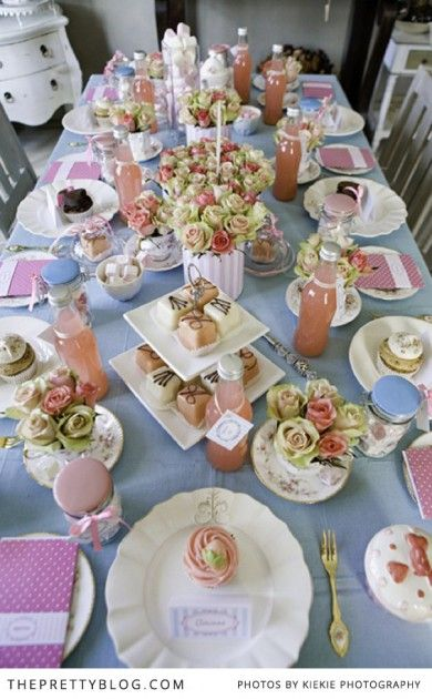 We just love this festive tea table created by Vintage Rose,with the beautiful stationary designed by Paper Garden. It's all about feminine elegance and vintage touches and you can get loads of inspiration from these images.  The vintage and pink theme is perfect for a bridal shower. Treat the bride-to-be with a pretty and fun tea with friends before her big day.