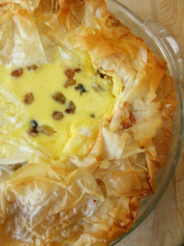 Easter Italian Rice Pie with Rum Soaked Raisins