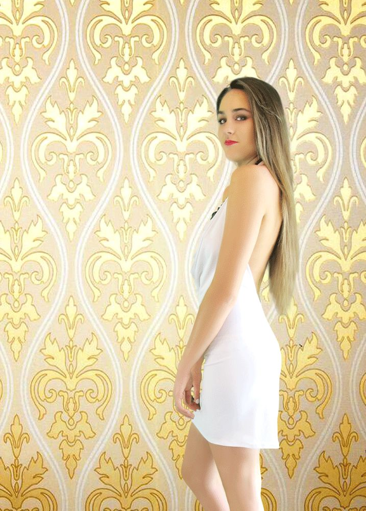 The Ravish Mini Dress in White