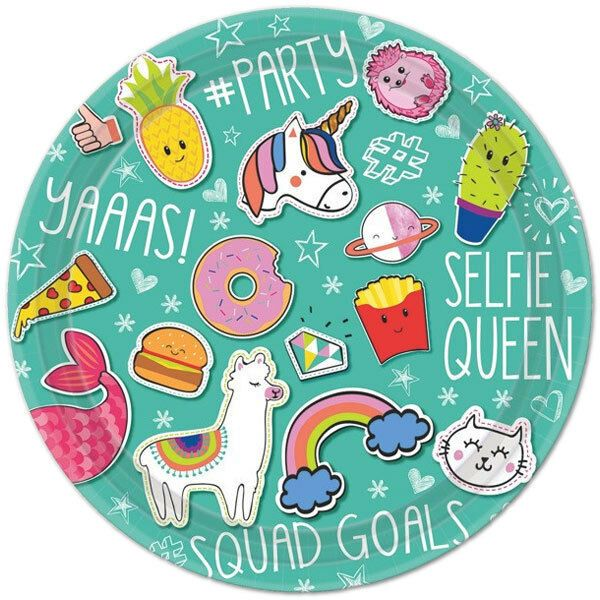 Selfie Celebration Birthday Party Tableware Plates Napkins Cups