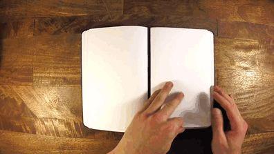 Ce bloc-notes magnétique vous permet de retirer et remettre les pages à votre guise