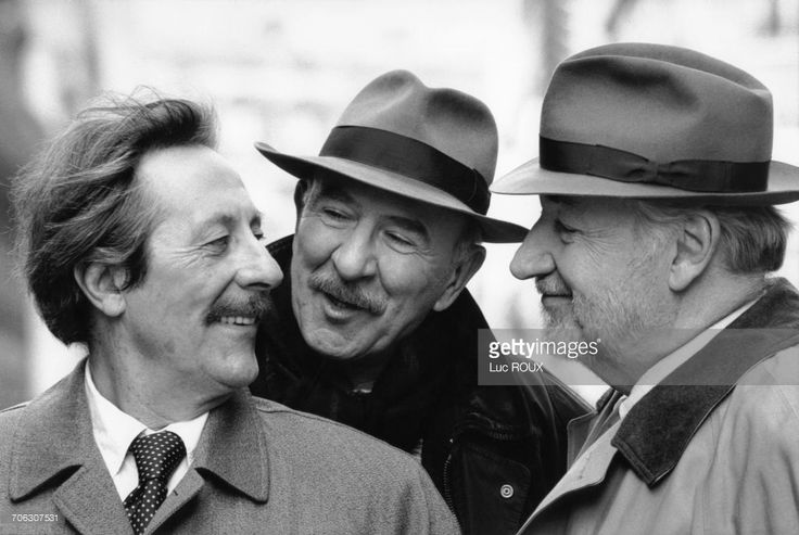 Jean Rochefort, Jean-Pierre Marielle, Philippe Noiret, Paris, 1996.