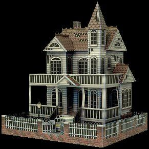 THE GHOST HOUSE It seems every town has a 'ghost house', and RavensBlight is certainly no exception. This nicely detailed model stands about eight and a half inches tall, just large enough to hold your deepest fears and gravest misgivings. Plus... this model has a hidden storage compartment for all your other stuff!