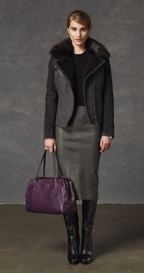 The chicest way to do winter style from @Coach, Inc., Inc.