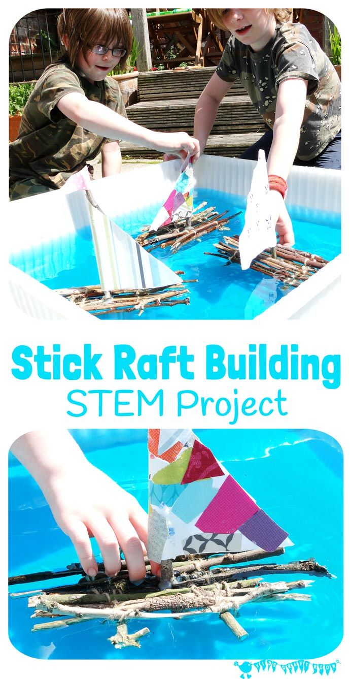 Stick Raft Building STEM Project. Can you build a raft that really floats? How much weight can your stick raft carry? Can your raft cope in a real stream? This STEM challenge is great fun for kids and a super way to get them stretching and developing their skills and engaging with Nature.