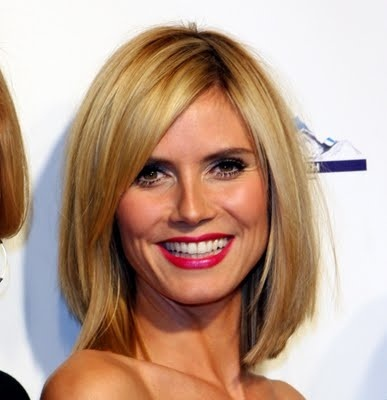 heidi klum shoulder length hairstyle blonde hairstyle - Womens Hairstyles For Heart Shaped Faces