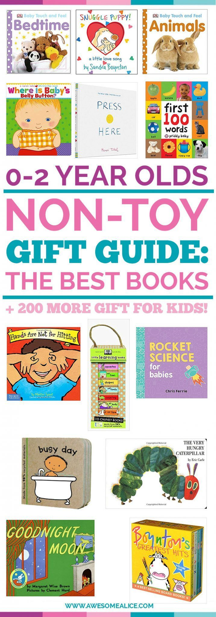 Book Gift Guide For Babies And Toddlers | Christmas Gifts For Kids | Perfect Christmas Gift For Babies | The Best Toddler Books | The Best Baby Books | Toddler Christmas Gift Guide | The Best Kids Gift Guide| Holiday Gifts For Kids | #giftguide | #toddlers| #Christmas | www.awesomealice.com