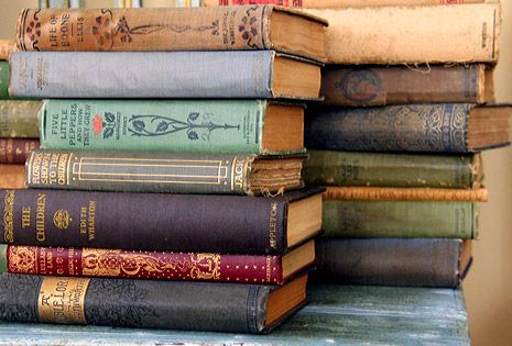 vintage books add color and drama