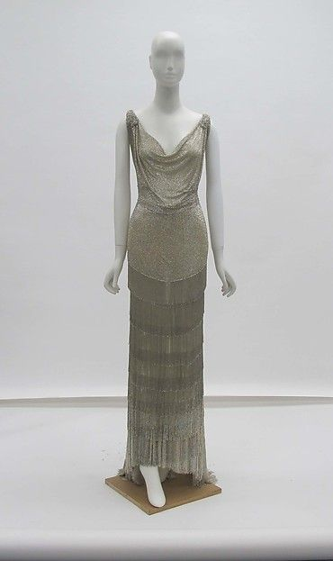 Evening dress (image 1) | House of Worth | French | 1931 | silk, glass, metal | Metropolitan Museum of Art | Accession #: 2013.625