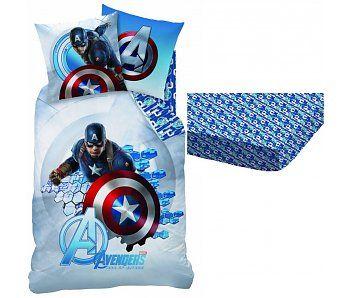 Marvel Avengers Dekbedovertrek + Hoeslaken Captain America 100% katoen