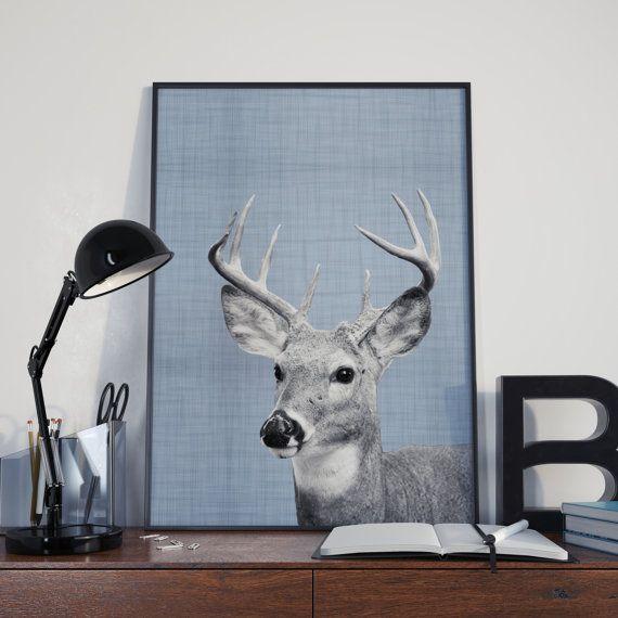 Deer Printable Deer Nursery Print Deer Wall di DamaDigitalDesign