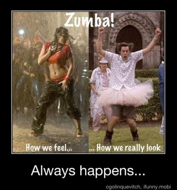 funny pictures with captions | this is what i think I look like zumba caption picture
