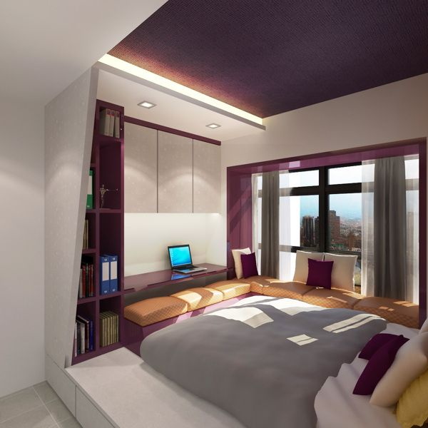 Rectangle Bedroom Design Ideas Master Bedroom Balcony Bedroom Colour Contrast Bedroom Ideas Small Rooms: HDB 4-rooms Flat On Behance