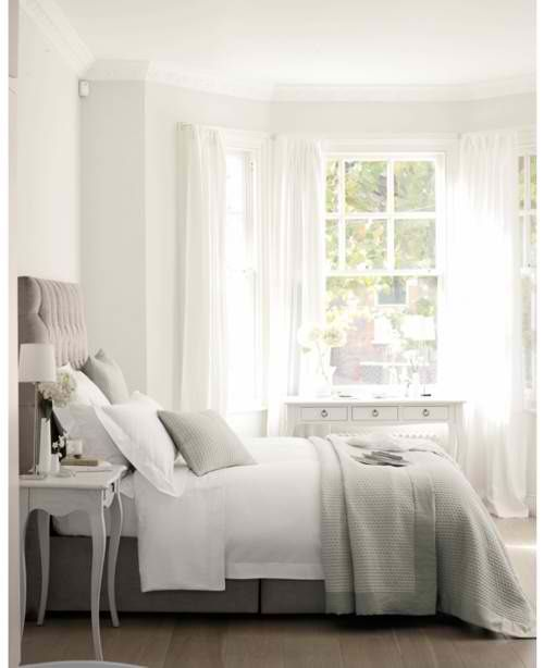 White and dove grey bedroom  #KBHomes