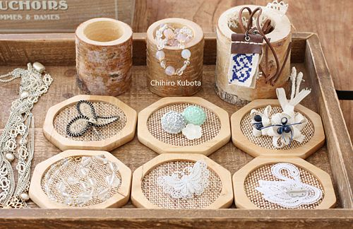 Wooden accessories plates