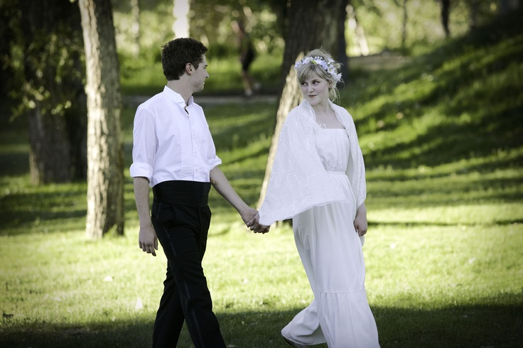 A Midsummer Night's Dream - Shakespeare in the Park. Photo by Trudie Lee; Josh Symonds, Julia Guy.
