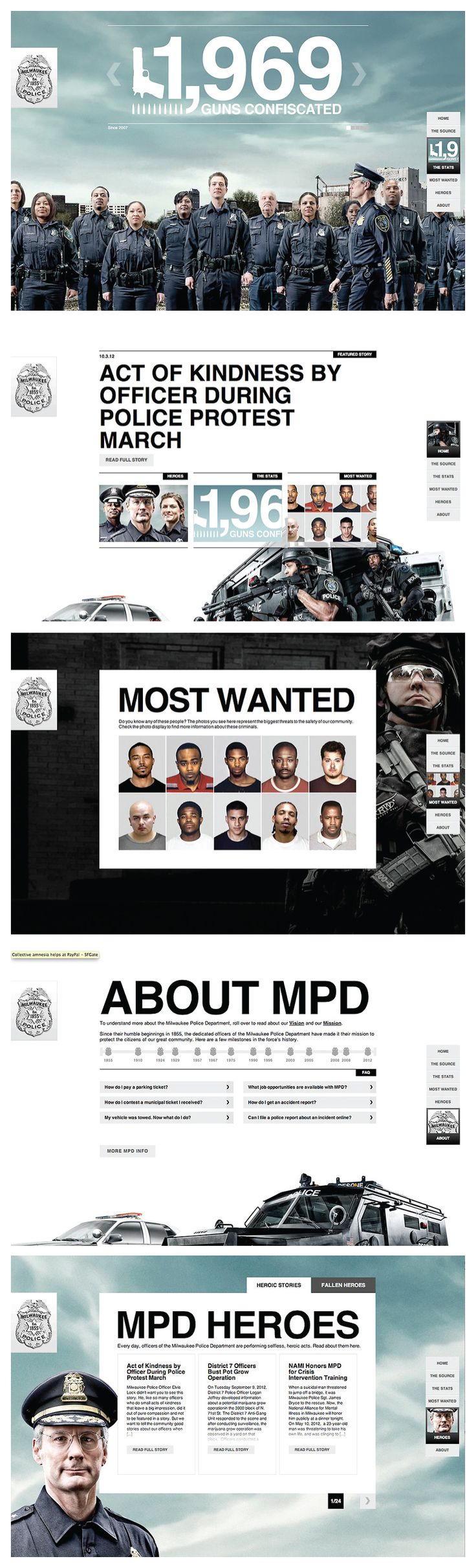 Milwaukee Police Department - rebranding | #webdesign #it #web #design #layout #userinterface #website #webdesign <<< repinned by an #advertising #agency from #Hamburg / #Germany - www.BlickeDeeler.de | Follow us on www.facebook.com/BlickeDeeler