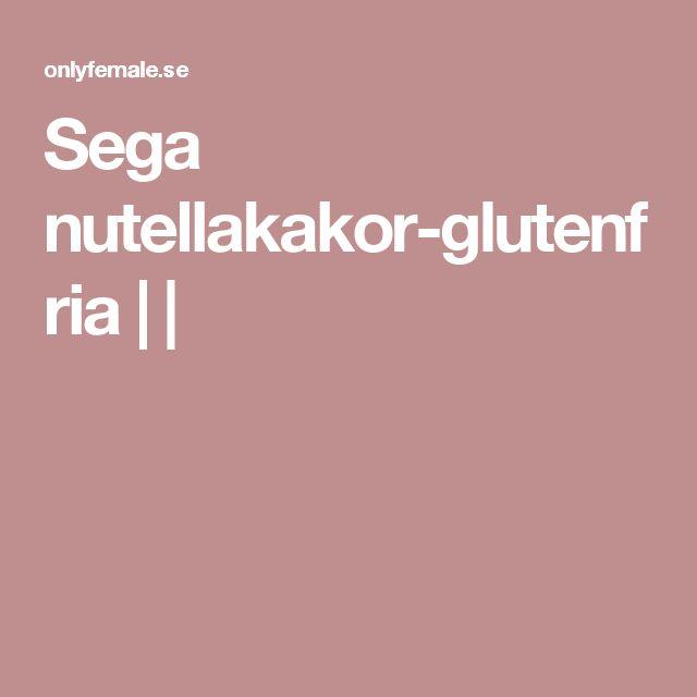 Sega nutellakakor-glutenfria    