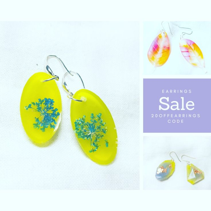 20% Earrings when you enter 20offearrings at checkout on www.beaisobel.com #resin #resinearrings #handmade #handcrafted #ausmade