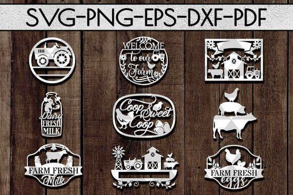 farm decor sign papercut cutting file, laser cut, farming dxf, rustic designs, farm life svg, countr