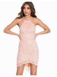 Strappy Back Lace Dress - Nly One - Light Pink - Party Dresses - Clothing - Women - Nelly.com